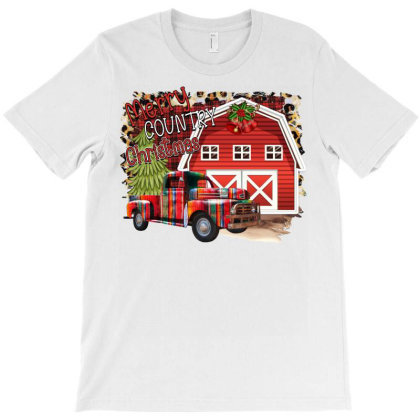 Merry Country Christmas T-shirt Designed By Badaudesign