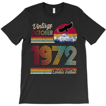 Vintage October 1972 Limited Edition T-shirt Designed By Badaudesign