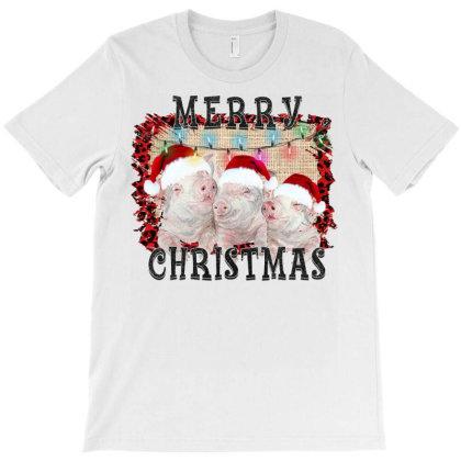 Merry Christmas Pig T-shirt Designed By Badaudesign