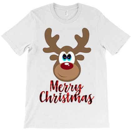 Merry Christmas Reindeer T-shirt Designed By Sengul