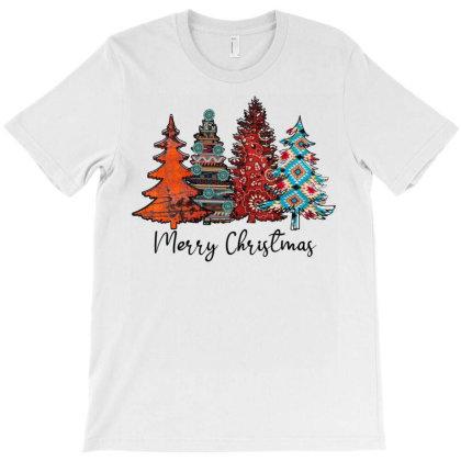 Merry Christmas Trees T-shirt Designed By Badaudesign