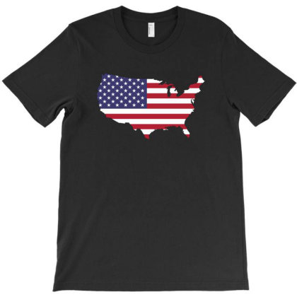 American Flag T-shirt Designed By Sengul