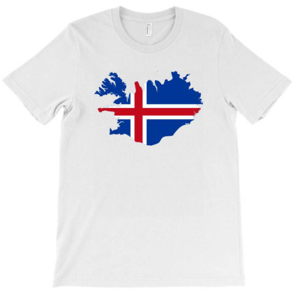 Iceland Flag Map T-shirt Designed By Sengul