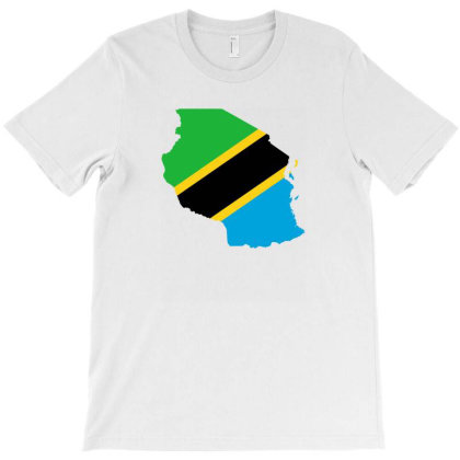 Tanzania Flag Map T-shirt Designed By Sengul