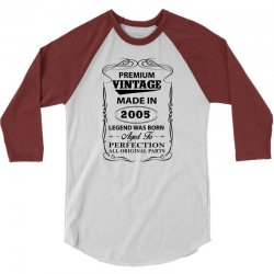 vintage legend was born 2005 3/4 Sleeve Shirt   Artistshot