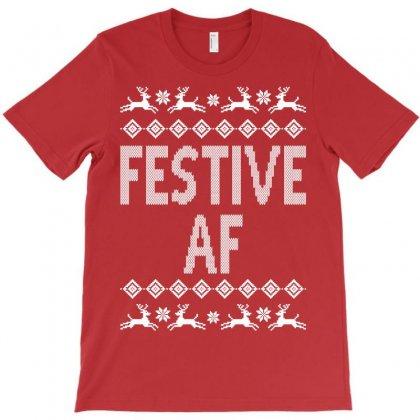 Festive Af Christmas Sweater T-shirt Designed By Tshiart