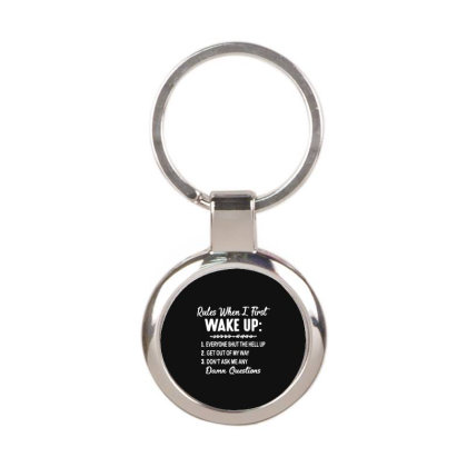 Damn Questions Round Keychain Designed By Delicous