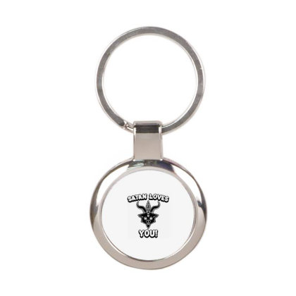 Satan Round Keychain Designed By Delicous