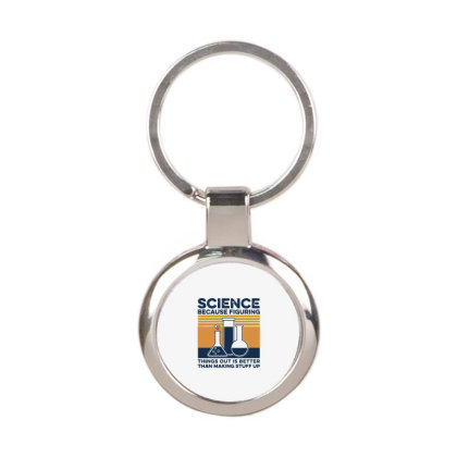 Science Round Keychain Designed By Delicous