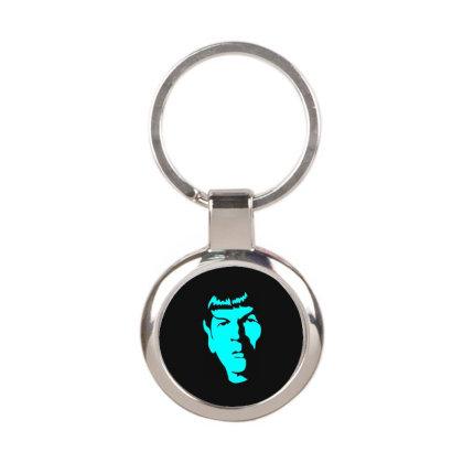 Spock Star Trek 2 Round Keychain Designed By Fanshirt