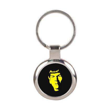 Spock Star Trek 4 Round Keychain Designed By Fanshirt