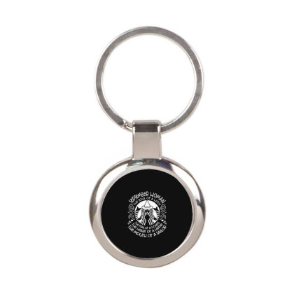 Woman Hippie Round Keychain Designed By Delicous