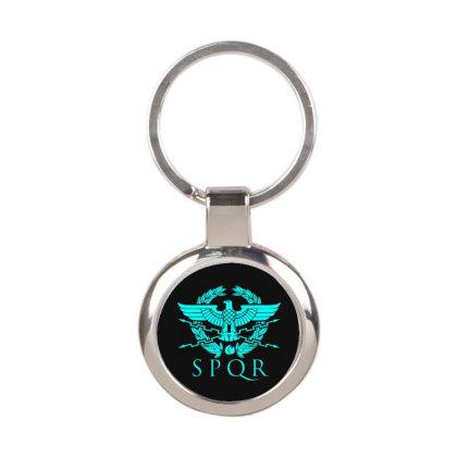 Spqr 3 Round Keychain Designed By Fanshirt