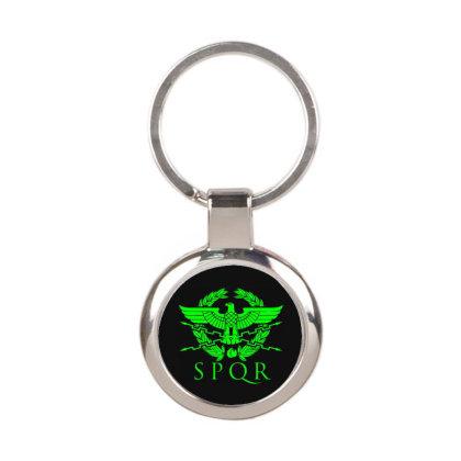 Spqr 4 Round Keychain Designed By Fanshirt