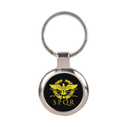 Spqr 5 Round Keychain Designed By Fanshirt