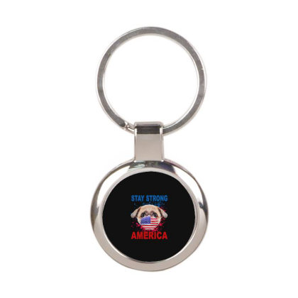 Face Mark America Round Keychain Designed By Delicous