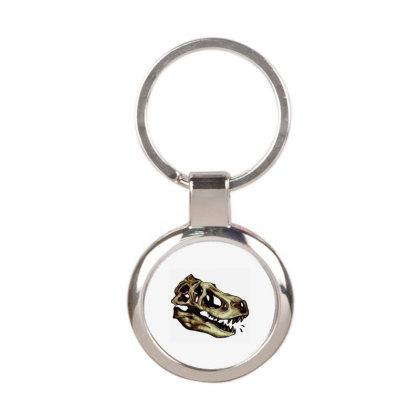 Dino Skull Round Keychain Designed By Ari Restanto