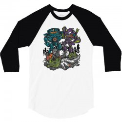 buddies vs apocalypse 3/4 Sleeve Shirt | Artistshot