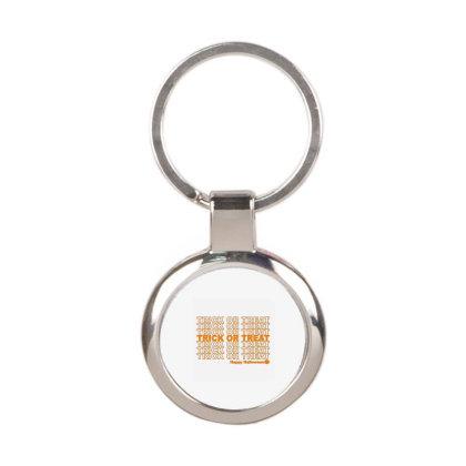 Trick Or Treat Round Keychain Designed By Jamalia Farh