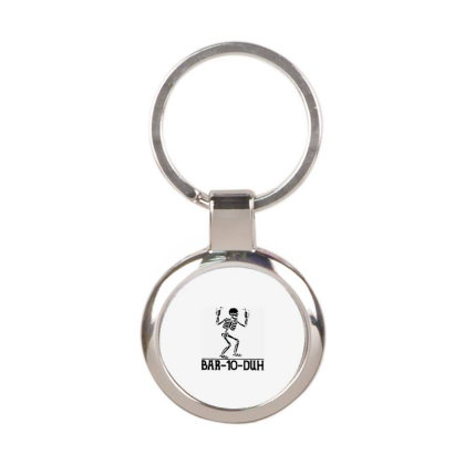 Skeleton Drinker Round Keychain Designed By Delicous