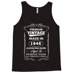 vintage legend was born 1946 Tank Top   Artistshot
