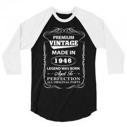 vintage legend was born 1946 3/4 Sleeve Shirt   Artistshot