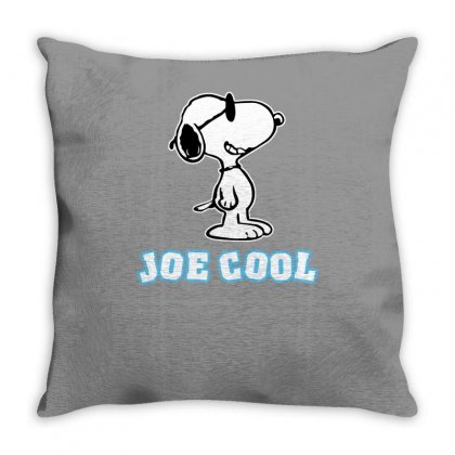 Snoopy Joe Cool Vintage Throw Pillow Designed By Mdk Art