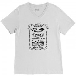 vintage made in 1951 V-Neck Tee | Artistshot