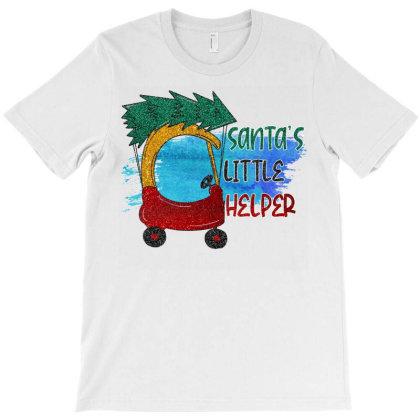 Santa Little Helper T-shirt Designed By Badaudesign