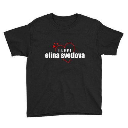 I Love Elina Svetlova Youth Tee Designed By Word Power