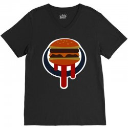 buger shot sign V-Neck Tee | Artistshot