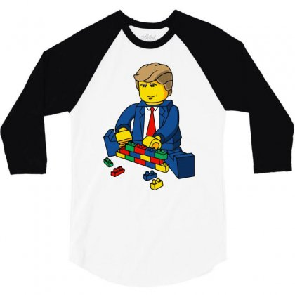 Build A Wall Trump 2016 (2) 3/4 Sleeve Shirt Designed By Monstore