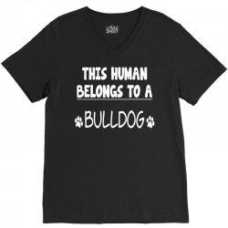 bulldog's V-Neck Tee | Artistshot