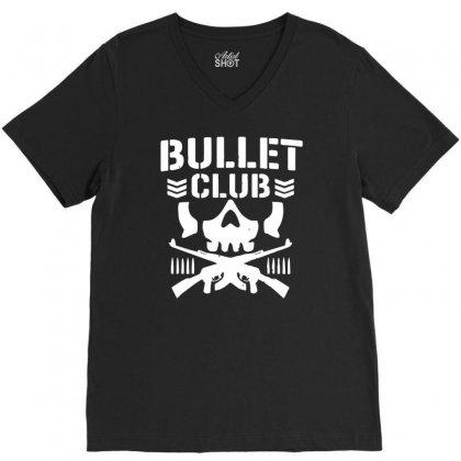 Bullet Club New Japan Pro Wrestling V-neck Tee Designed By Monstore