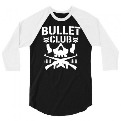 Bullet Club New Japan Pro Wrestling 3/4 Sleeve Shirt Designed By Monstore