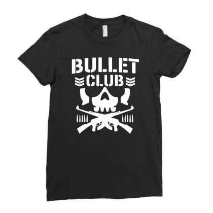 Bullet Club New Japan Pro Wrestling Ladies Fitted T-shirt Designed By Monstore