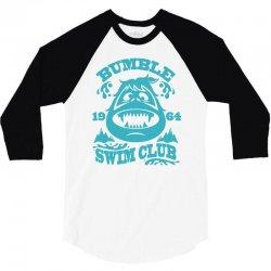 bumble swim club 3/4 Sleeve Shirt | Artistshot