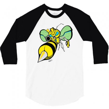 Bumble Bee 3/4 Sleeve Shirt Designed By Monstore