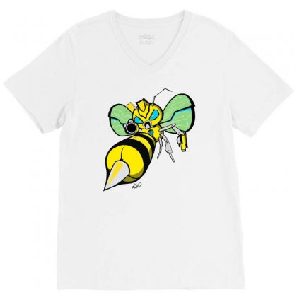 Bumble Bee V-neck Tee Designed By Monstore