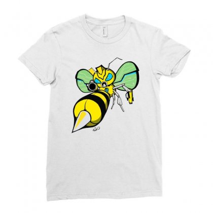 Bumble Bee Ladies Fitted T-shirt Designed By Monstore