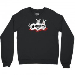 bunnies and skulls Crewneck Sweatshirt   Artistshot