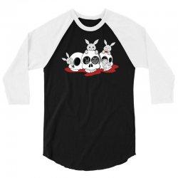 bunnies and skulls 3/4 Sleeve Shirt   Artistshot