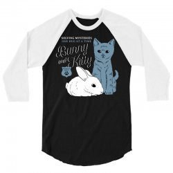 bunny and kitty 3/4 Sleeve Shirt | Artistshot
