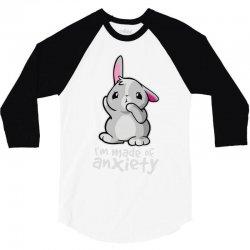 bunny anxiety 3/4 Sleeve Shirt   Artistshot