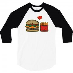 burger and fries 3/4 Sleeve Shirt | Artistshot