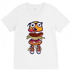 burger bits V-Neck Tee | Artistshot