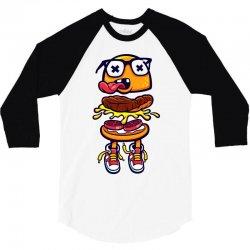 burger bits 3/4 Sleeve Shirt | Artistshot