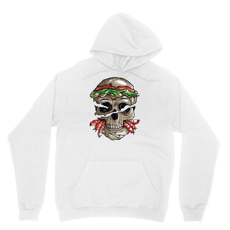 Burger Skull Unisex Hoodie | Artistshot