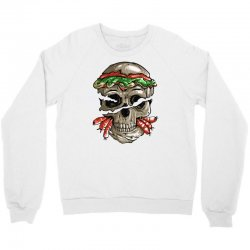burger skull Crewneck Sweatshirt | Artistshot