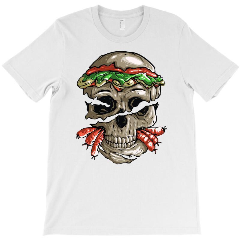 Burger Skull T-shirt | Artistshot